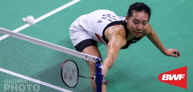Michelle Li Competes at the HSBC BWF World Tour Finals